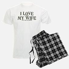 Love my wife fishing Pajamas