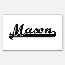 Mason surname classic retro design Decal