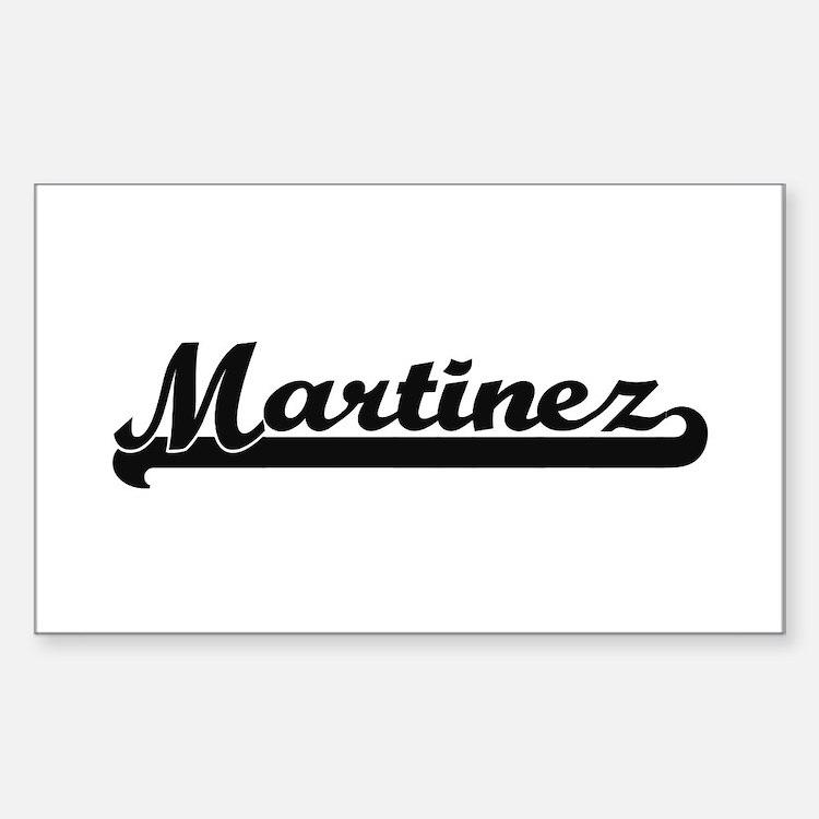 Martinez surname classic retro design Decal