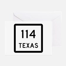 State Highway 114, Texas Greeting Cards (Pk of 10)