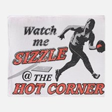 Softball Hot Corner Sizzle! Throw Blanket
