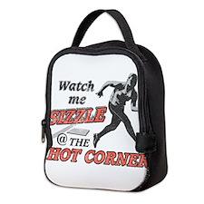 Softball Hot Corner Sizzle! Neoprene Lunch Bag