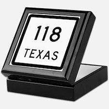 State Highway 118, Texas Keepsake Box