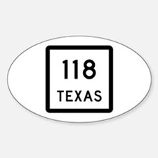 State Highway 118, Texas Decal