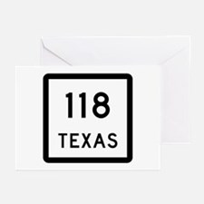 State Highway 118, Texas Greeting Cards (Pk of 10)