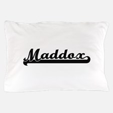 Maddox surname classic retro design Pillow Case