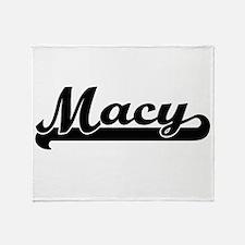 Macy surname classic retro design Throw Blanket