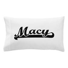 Macy surname classic retro design Pillow Case