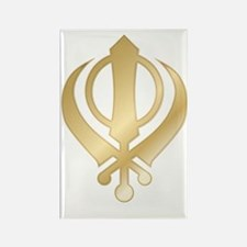 Khanda Rectangle Magnet