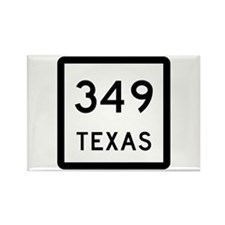 State Highway 349, Texas Rectangle Magnet