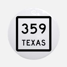 State Highway 359, Texas Ornament (Round)