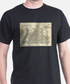 Vintage Map of Liverpool England (1836) T-Shirt