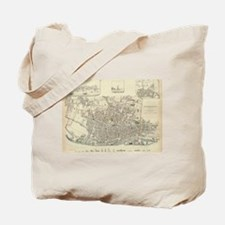Vintage Map of Liverpool England (1836) Tote Bag
