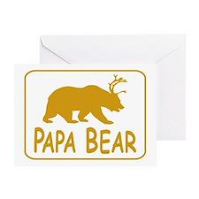 Papa Bear Greeting Cards