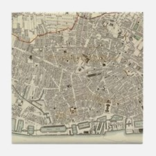 Vintage Map of Liverpool England (183 Tile Coaster