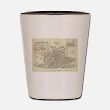 Vintage Map of Liverpool England (1836) Shot Glass