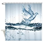 Fantasy Water Bird Shower Curtain