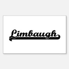 Limbaugh surname classic retro design Decal