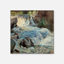 "Waterfall by Twachtman Square Sticker 3"" x 3"""