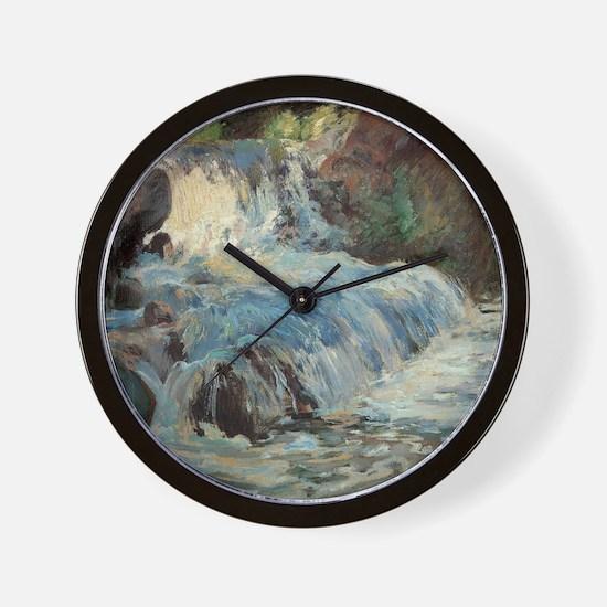Waterfall by Twachtman Wall Clock