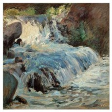 Waterfall by Twachtman Poster