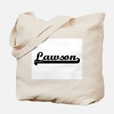 Lawson surname classic retro design Tote Bag