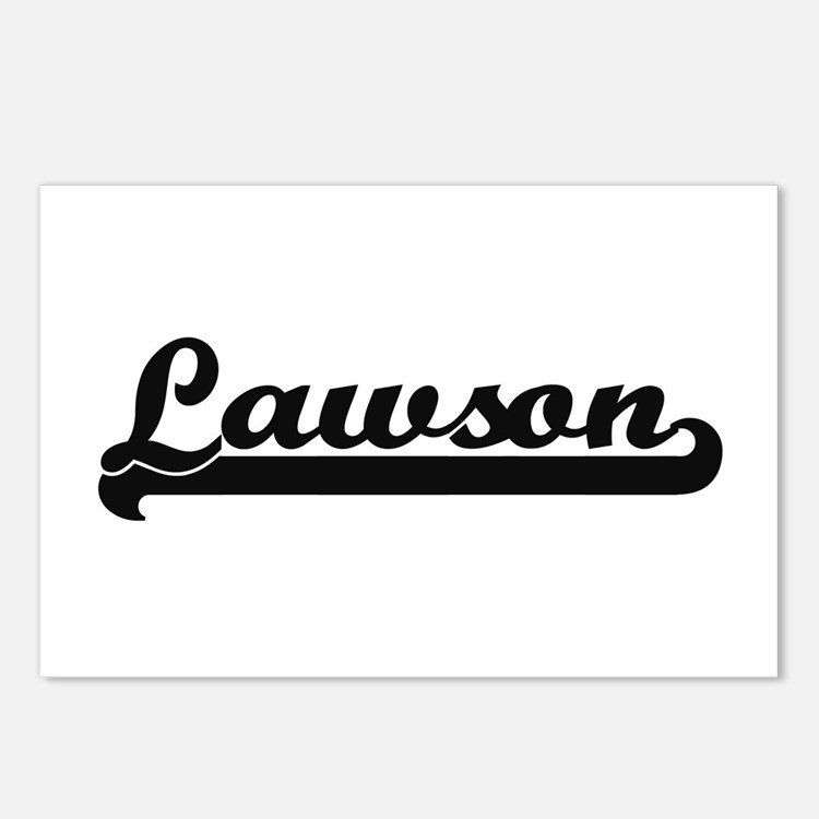 Lawson surname classic re Postcards (Package of 8)
