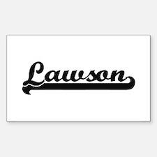 Lawson surname classic retro design Decal