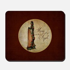 Irish Rose Harp Mousepad