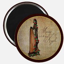 Irish Rose Harp Magnets