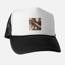 rustic brown swirls marble Trucker Hat