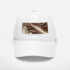 rustic brown swirls marble Baseball Baseball Cap