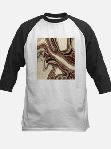 rustic brown swirls marble Baseball Jersey