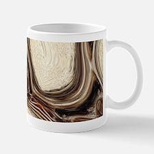 rustic brown swirls marble Mugs