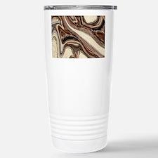 rustic brown swirls mar Travel Mug