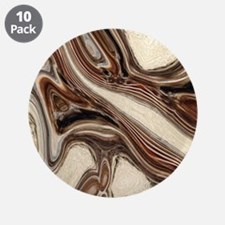 """rustic brown swirls marble 3.5"""" Button (10 pack)"""