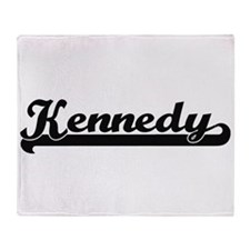Kennedy surname classic retro design Throw Blanket