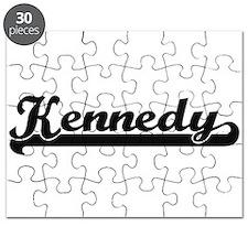 Kennedy surname classic retro design Puzzle
