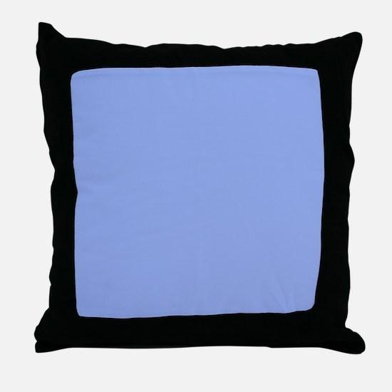 Solid Light Blue Throw Pillow