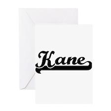 Kane surname classic retro design Greeting Cards