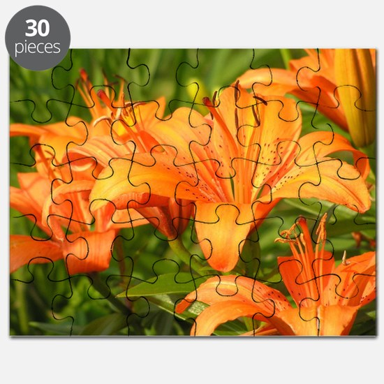 Orange Tiger Lilies Puzzle