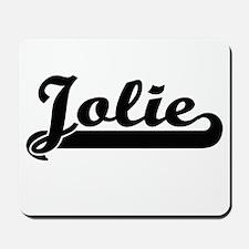 Jolie surname classic retro design Mousepad