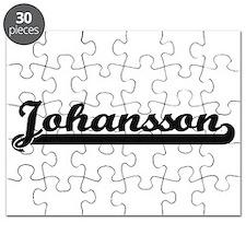 Johansson surname classic retro design Puzzle