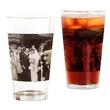 Vintage Wedding 1945 Drinking Glass