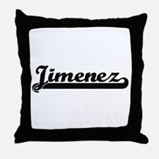Jimenez surname classic retro design Throw Pillow