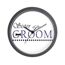 Sister of the Groom Wall Clock