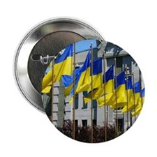 "Ukrainian Flags 2.25"" Button"