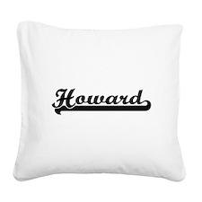 Howard surname classic retro Square Canvas Pillow