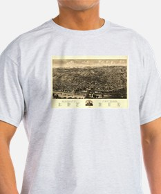 Vintage Pictorial Map of Albany New York ( T-Shirt
