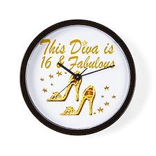 DAZZLING 16TH DIVA Wall Clock